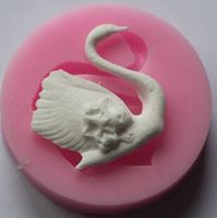 Wholesale Retail Free Shipping 10 Pcs Swan Shape Silicone Mold Polymer Clay Chocolate Mold Mould