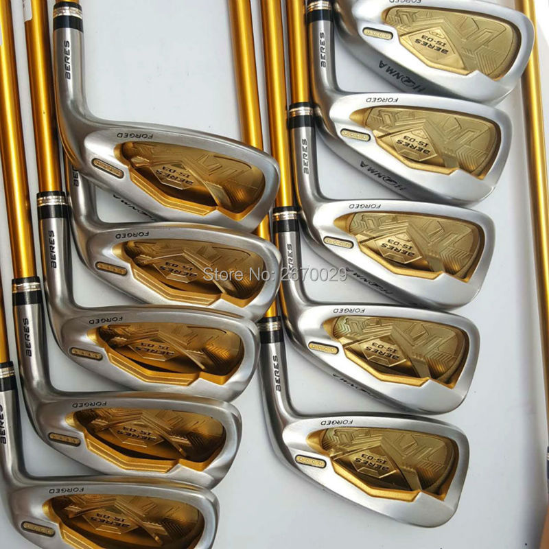 ФОТО  hot honma S-03 4 start golf clubs iron set  men  graphite and steel  righ handed R and S shaft 4-11 AS WS Freeshipping