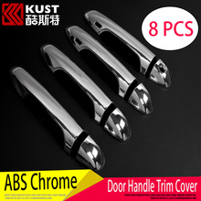 KUST ABS Car Door Handle Cover For Toyota For Highlander 2015 2016 Door Handle Cover Sticker For Highlander Exterior Accessoris