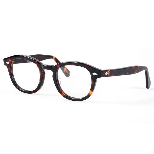 Óculos ópticos Quadro Homens Johnny Depp Óculos Armação de óculos de Computador Para O Sexo Masculino Transparente Lente Armacao oculos de YQ080