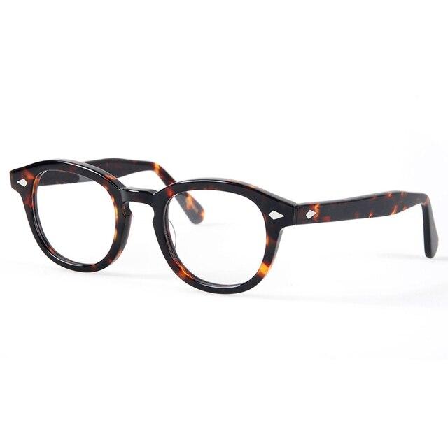 Optical Eyeglasses Frame Men Computer Johnny Depp Eye Glasses Spectacle Frame For Male Transparent Lens Armacao Oculos de YQ080