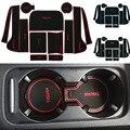 Antiderrapante decoração para vw volkswagen tiguan logotipo no carro adesivos de Porta Interior Copo Mat Ranhura Portão de Borracha Pad Ranhura carro-Styling