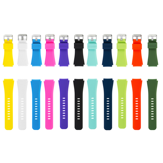 Free delivery Silicone Bracelet Strap Watch Band For Samsung Gear S3 Frontier Cl