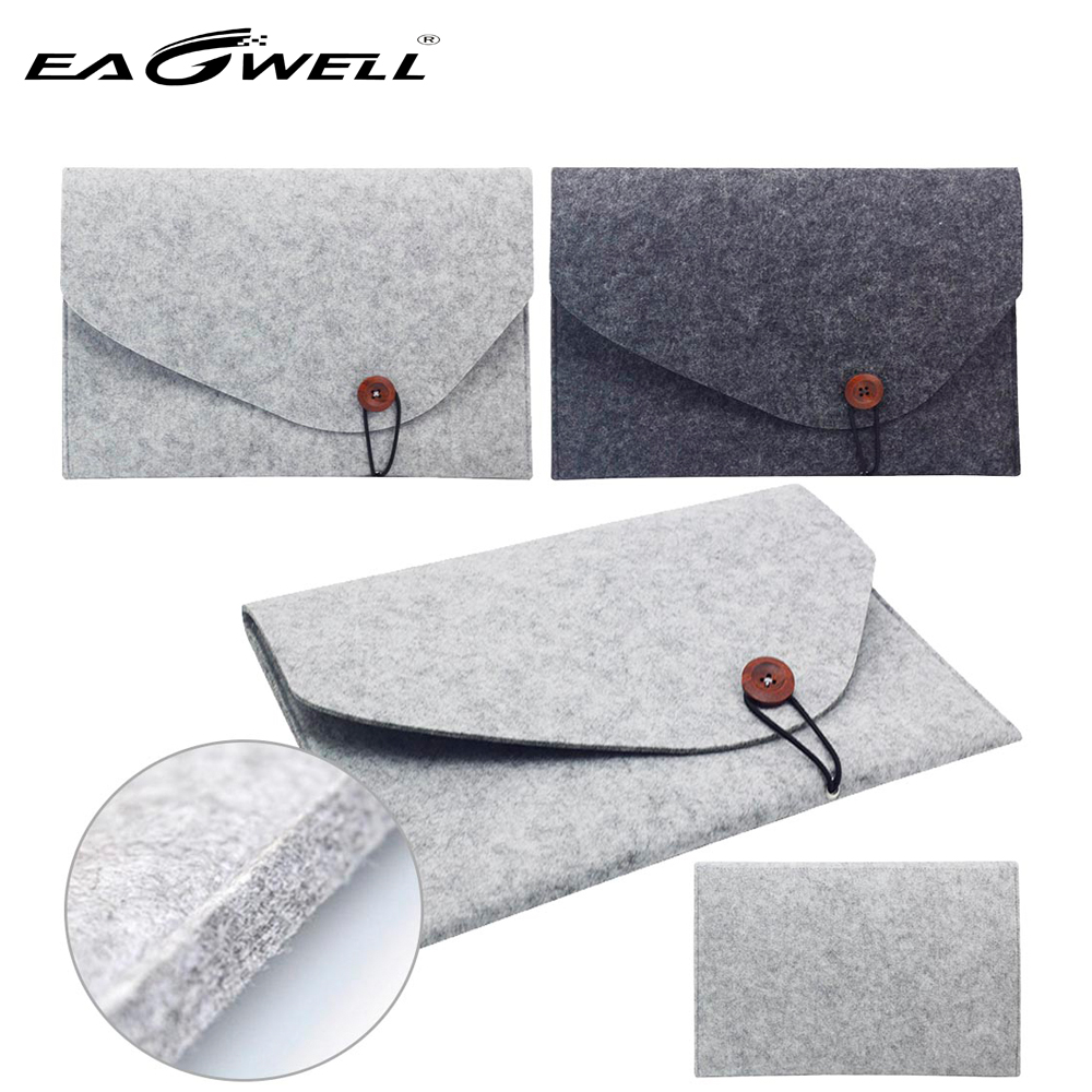 10 11 13 15 inch Wool Felt Laptop Sleeve Bag Case For Apple Macbook Air Pro Retina Universal Notebook Carrying Hand Bag Pouch