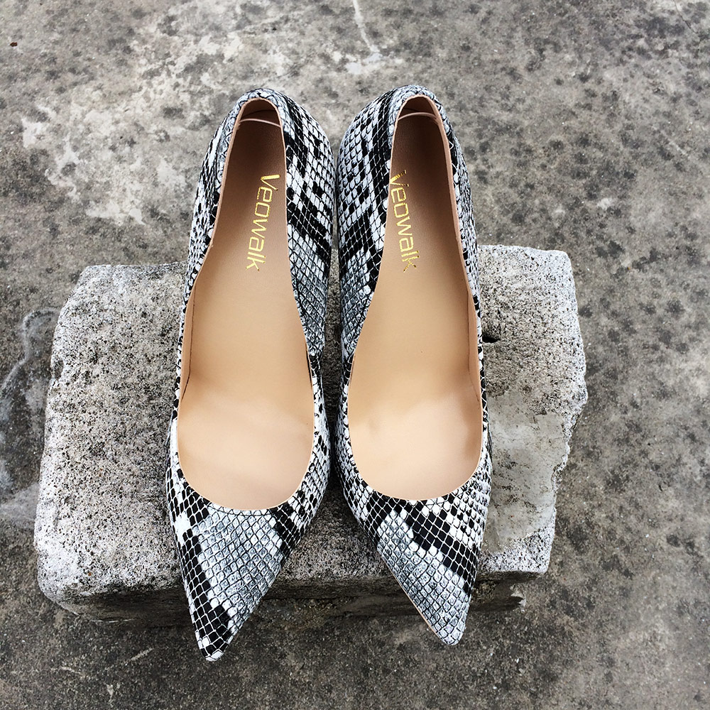 c4aa7292 Eilyken transparente de PVC de grano de leopardo bombas tacón tacones zapatos  de tacón alto zapatos