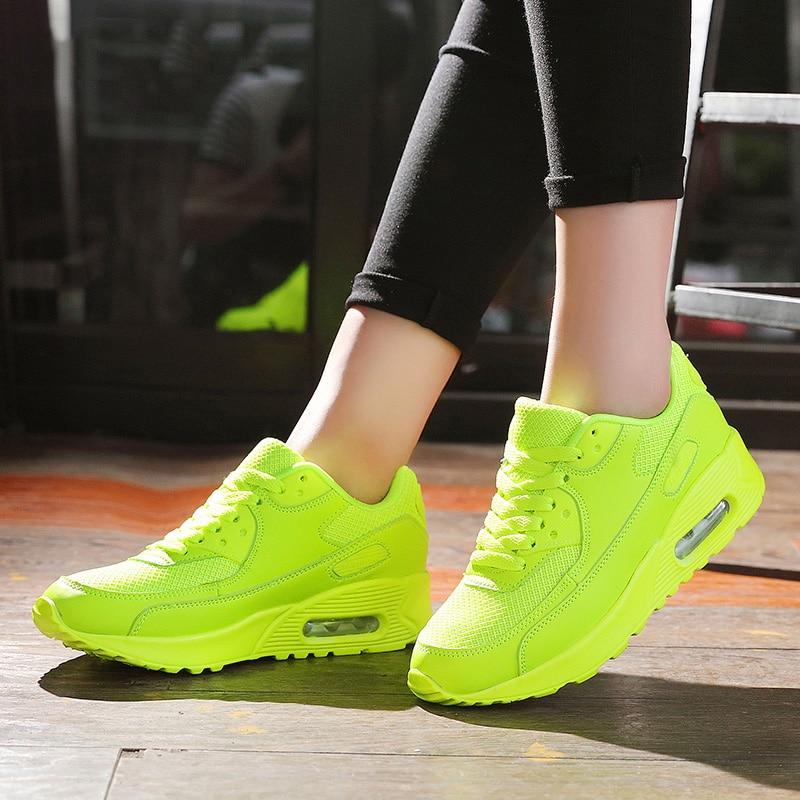 LAKESHI 2018 Neue Schuhe Frauen Mode Turnschuhe Trend Casual Schuhe Atmungsaktive Mesh Schuhe Schwarz Lace Up Damen Schuhe Größe 36 -44