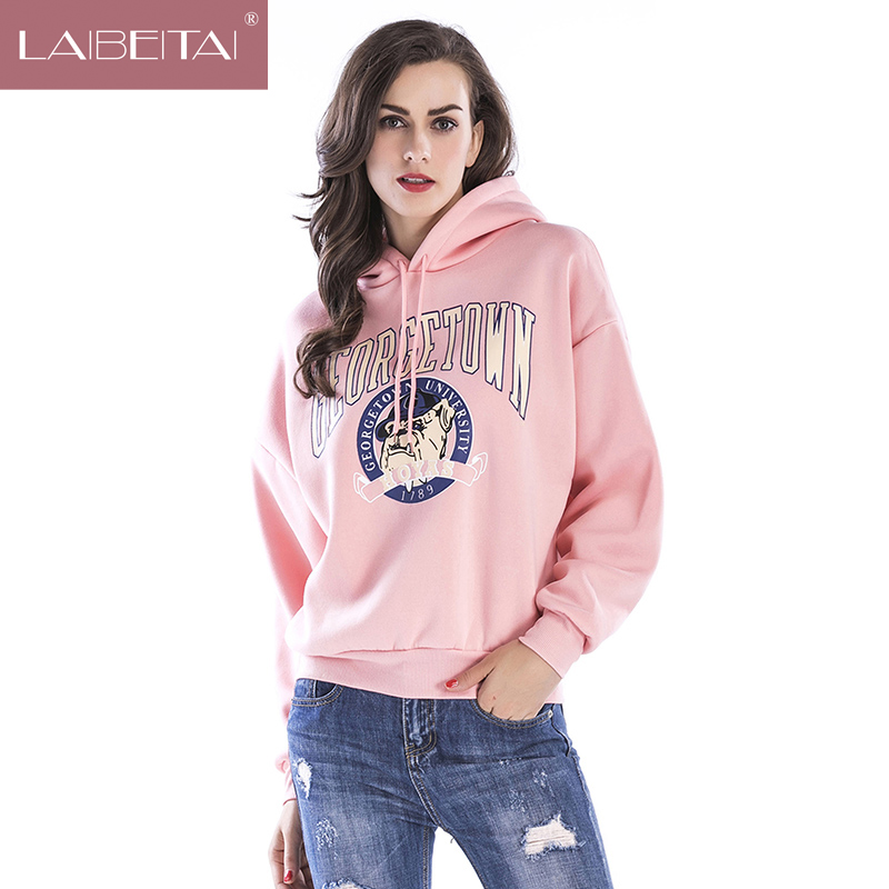 LAIBEITAI Women Hoodies Plue Large Size Autumn Pullovers Tops shirts Big size Student Preppy Style Sweet Casual Fashion Clothing