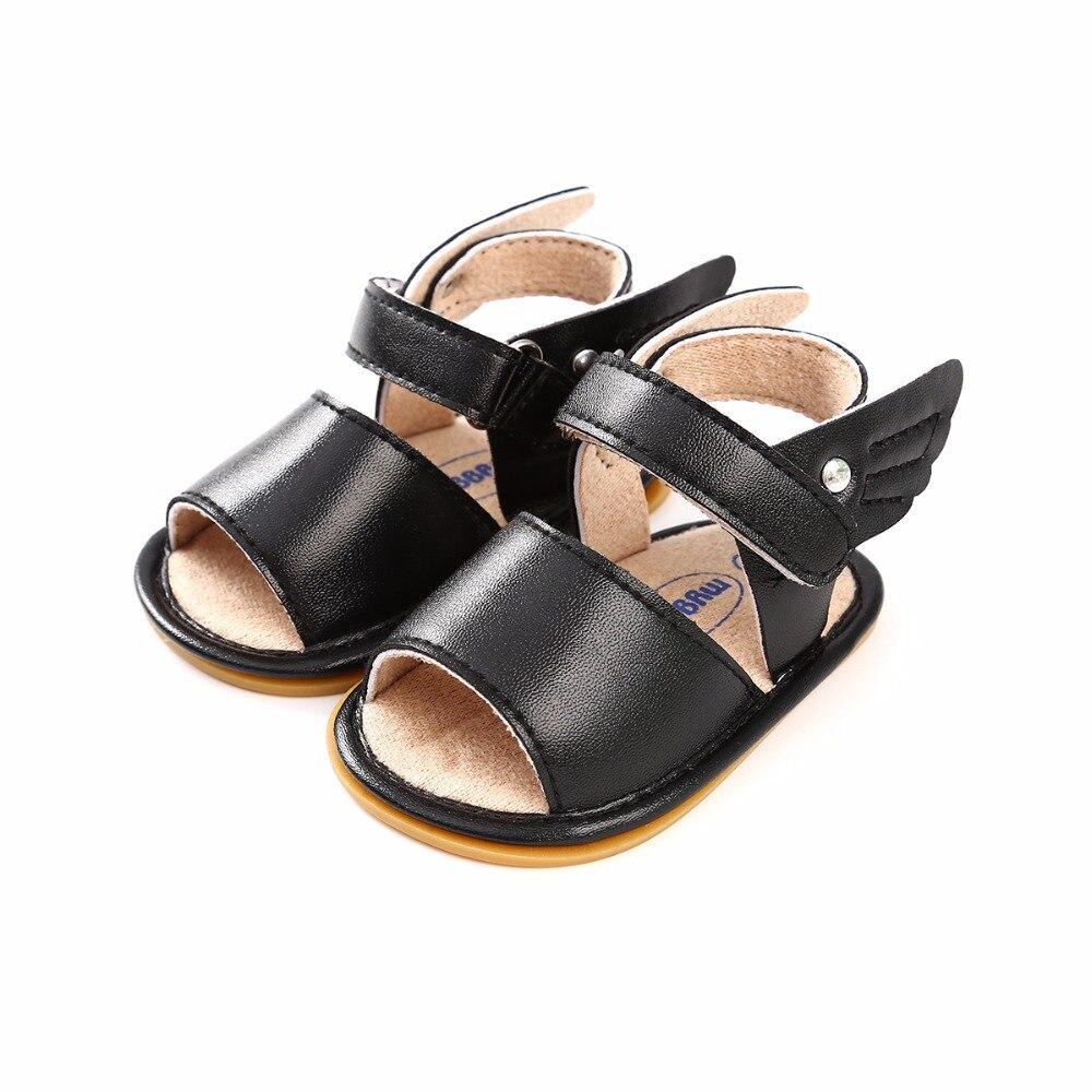 Купить с кэшбэком New Style Infant Baby Sandals PU Wing Prewalkers Rubber Sole Anti-slip Summer Sandals Baby Boy Girl Shoes Wholesale