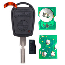 KEYECU EWS 3 Button Remote Key FOB for BMW 3 5 7 X5 X3 Z4 E38 E39 E46 315MHz/433MHz ID44 Chip HU58 Blade