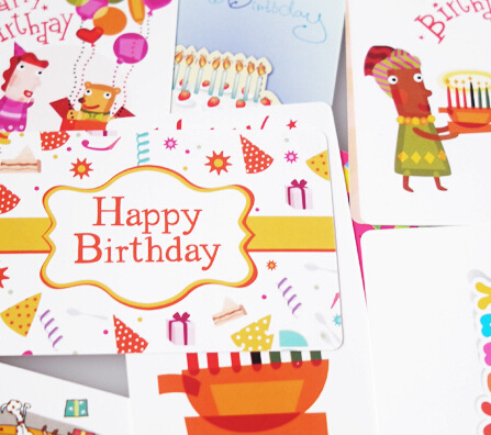 Aliexpress Buy New 54 Pieces Mini Birthday Cards 27 Different