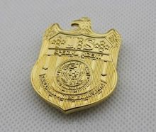 Lower  price custom badges top quality customized Newly name hot sales usa metal Badge & Emblem FH680100