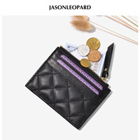 2018 Limited Monederos Para Mujer Monedas European Beauty Coin Purse Diamond Sheepskin Zipper Card Bag Simple Mini Colorful