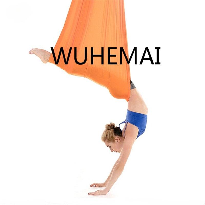 Wuhemai vol Anti-gravité yoga hamac balançoire tissu dispositif de Traction aérienne la ceinture de yoga professionnelle de la salle de yoga élastique - 4