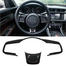 ABS карбоновое волокно вид рулевого колеса декоративная рамка отделка автомобиля-Стайлинг для Jaguar XE XF F-Pace 2016 2017