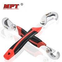 MPT 2 개 범용 렌치 9-32 미리메터 다기능 빠른 스냅 그립 렌치 소켓 헤드 조절 렌치 스패너 너트