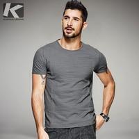 KUEGOU Neue Sommer Mens Casual T Shirts Linie Stil Grau Farbe marke Kleidung Mann Kurzarm Dünne T-Shirts Männlichen Tops T 6568
