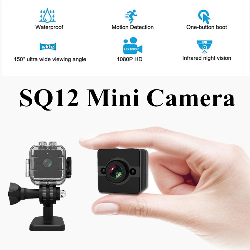 SQ12 car camer HD 1080P Mini camera Wide Angle Waterproof MINI Camcorder DVR Mini video  ...