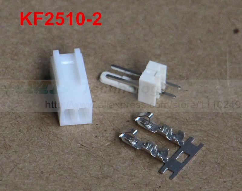 50set/lot KF2510 KF2510-2 connector 2.54mm 2pin free shipping 50pcs lot kf2510 kf2510 3aw male