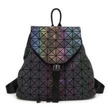 Женские Рюкзак женственный геометрический плед блесток женский Рюкзаки для девочек-подростков Bagpack drawstring сумка голографическая рюкзак