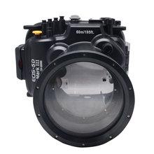 Mcoplus 60m 190ft Waterproof Underwater Camera Housing Diving Case Bag for Canon 5D Mark III 5D3
