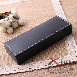DHL QSHOIC 100 unids/lote carcasa para bolígrafo de regalo caja de lápices de cuero de alta gama regalos de negocios pluma de publicidad al por mayor caja para bolígrafos de regalo