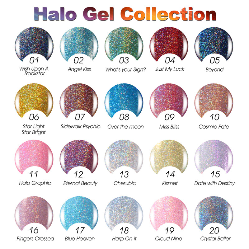 Candy Lover Holographic Halo Nail Polish High Quality Soak Off Gel