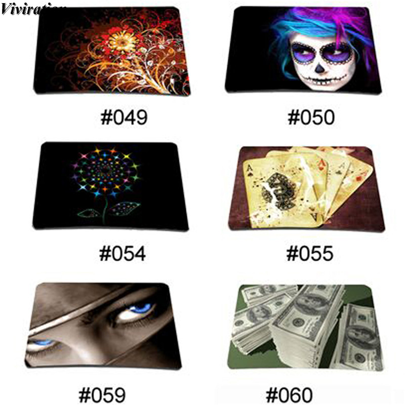 Hot Sales Viviration Stylish Mouse Pad Mat Colorful Anti-slip Laptop Notebook Computer Gaming Mouse Mat 21x18cm Rubber Mouse Pad