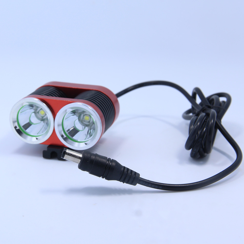 Walkfire 2XT6 LED 5000 Lumen Rechargeable Bicycle Light Mountain Bike Riding Cycling Headlight Waterproof+18650 Battery Pack