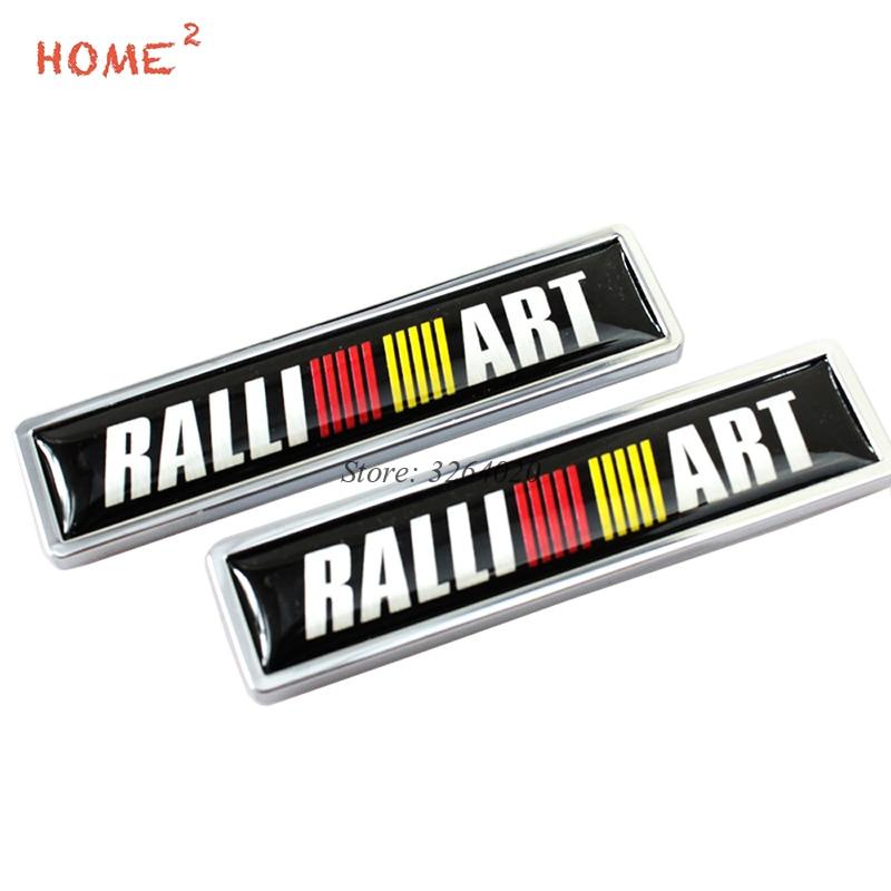 Car Styling Decor Door Side Stickers Badge Emblem Decals for RALLIART Logo for Mitsubishi Outlander ASX Montero L200 EVO Lancer
