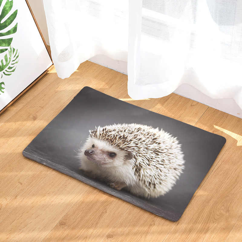CAMMITEVER Lovely Small Animal Hedgehog Carpet Alfombra Chair mat Seat Pad  Area Rugs Washable Bedroom Kids Room Decoration