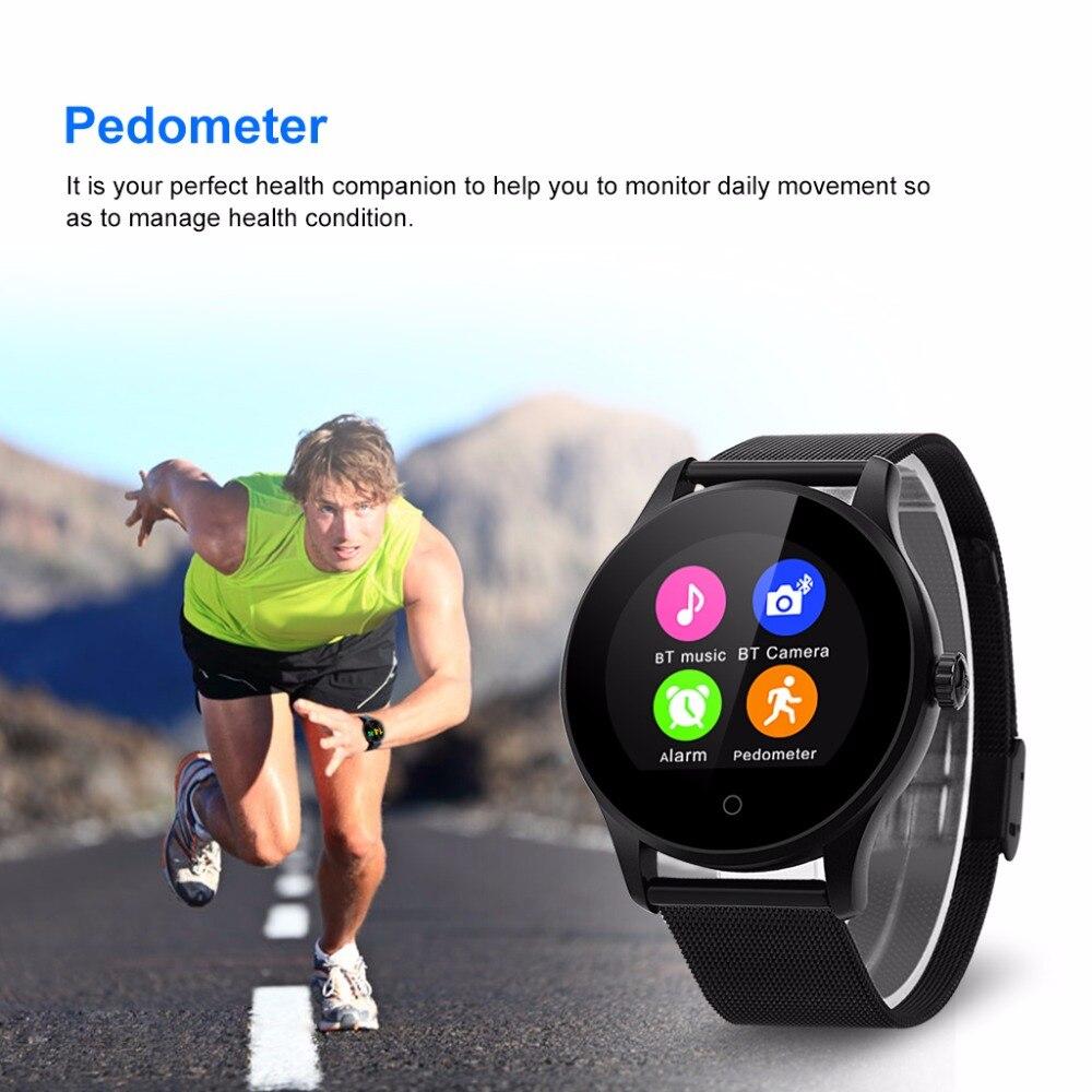 ea5be1fd21a K88H Relógio Inteligente À Prova D  Água Heart Rate Monitor Esporte ...