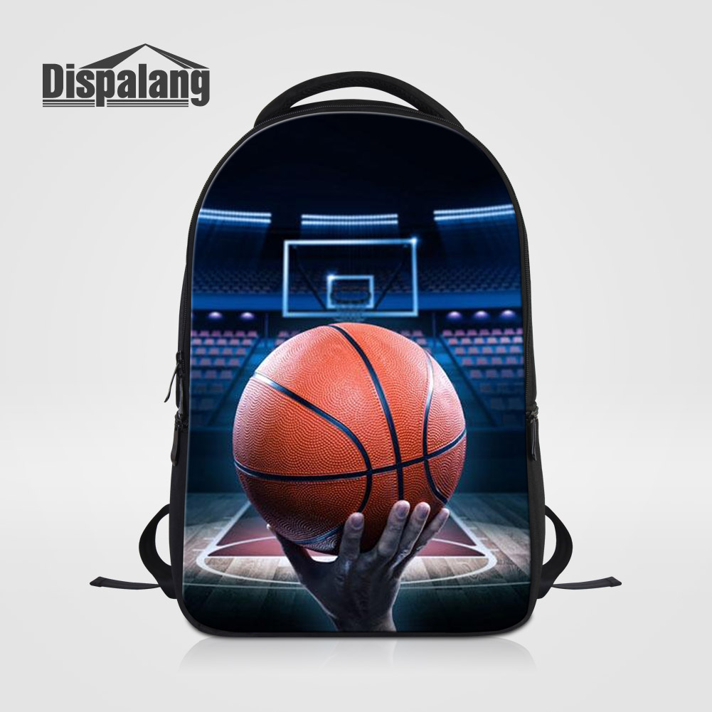 Dispalang Personalized Design Basketballs Schoolbag For College Students Male Mochila Escolar Laptop Backpack Men Casual Daypack
