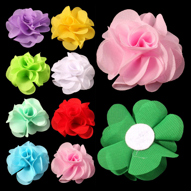 30pcs/lot 2.6 20 Colors Newborn Soft Chic Chiffon Flower For Kids Girl Hair Accessories Artifcial Fabric Flowers For Headbands 50pcs lot 4 1 17colors shabby lace mesh chiffon flower for kids girls hair accessories artificial fabric flowers for headbands