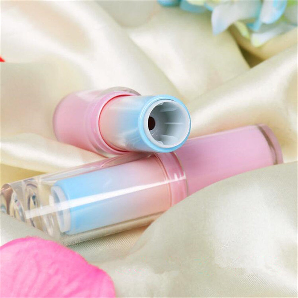 Durable Gradient Pink Empty Lipstick Tubes Container High Quality DIY Lip Balm Tube Cosmetic Bottle