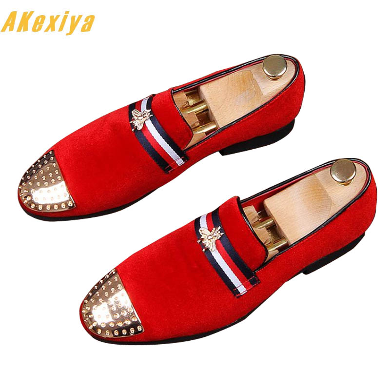 979e4f625c4 Newest Men luxury Designer Bee charming Casual Shoes Male Homecoming Dress  Wedding Party Prom shoes zapatos de novio