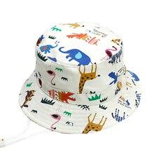 Высокое качество Cartton зоопарк Детская летняя шляпа хлопковая детская Обувь для мальчиков Обувь для девочек ведро Защита от Солнца шляпа малыш ребенок летние шапки От 0 до 6 лет