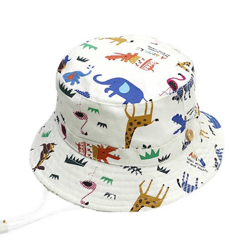 Alta calidad cartton Zoo bebé sombrero de verano algodón niños Niños Niñas  cubo Sol sombrero del 8f959f21b00