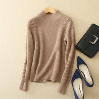 Для женщин толстый Свитера, пуловеры водолазка 100% кашемир элегантные дамские ребристые вязаный трикотаж Felmale Для женщин s Джемперы зимние т