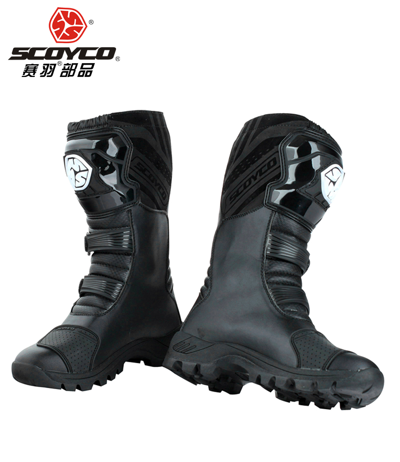 SCOYCO motorcycle Boots street automobile racing boots road Motocross riding font b shoes b font MBT012