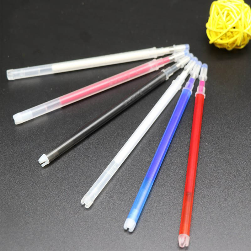 Image 2 - 100pcs High Temperature Vanishing Refill Fabric+PU Cloth Factory Professional Ironing Heating Disappear Refill Office Stationery-in Gel Pens from Office & School Supplies