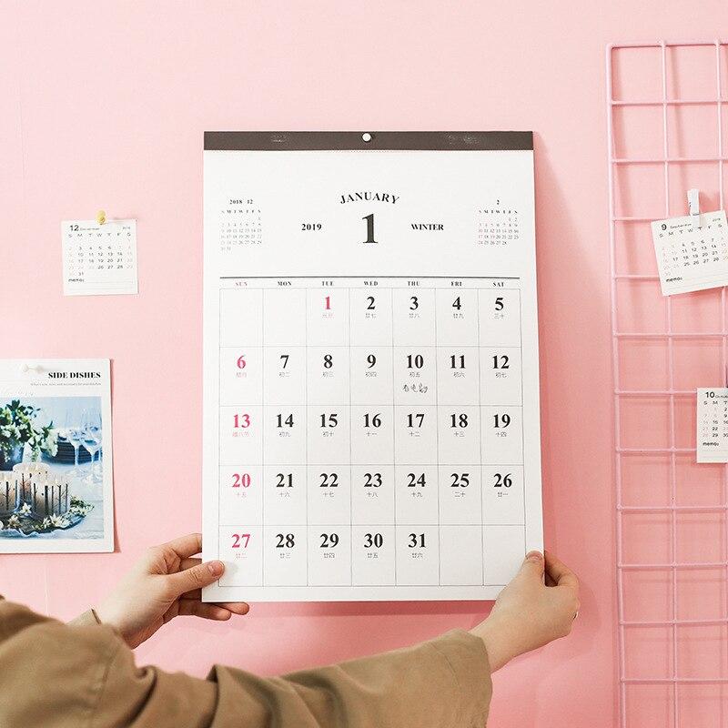 2019 Wand Kalender Wöchentlich Monatlich Planer Agenda Organizer Wand Zeitplan Kalender Hause Büro Hängen Kalender 2018,7-2019,12 Kalender