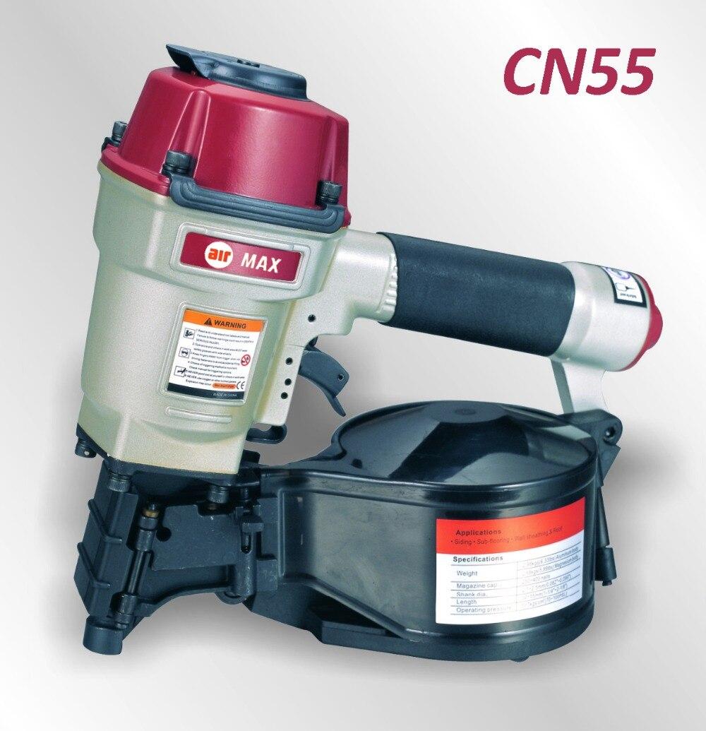 Pneumático Tapume Bobina CN55 Nailer Gun (para não incluir o imposto da alfândega)