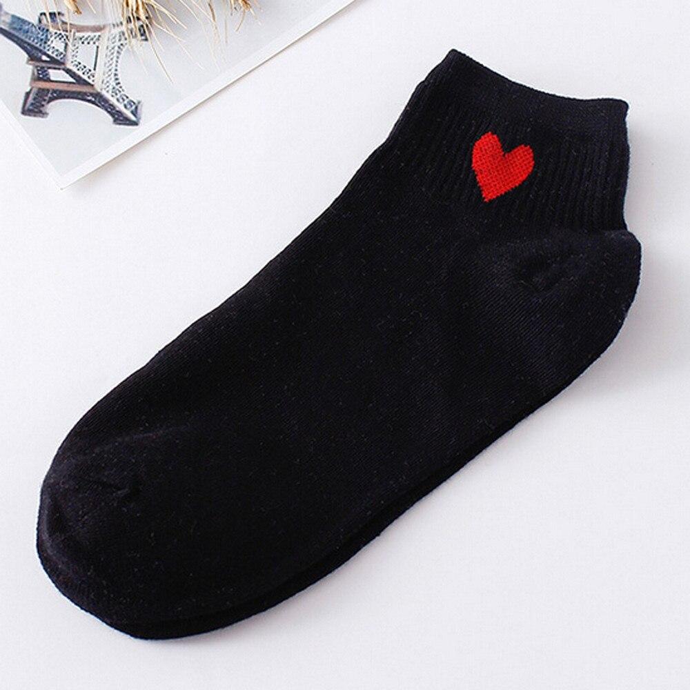 2019 Best Sale Women Socks Lovely Heart-Shaped Fashion Skateboard Sock Comfortable Socks @8