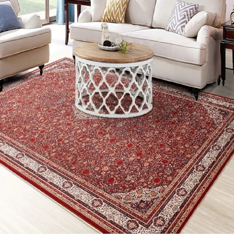 US $39.9  Retro style classical red floral living room rug, big size coffee  table carpet, Persian home decoration floor mat-in Carpet from Home & ...
