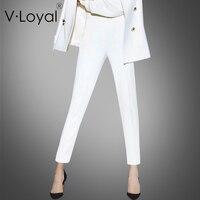 Новые Модные Белые Повседневные брюки на весну и штаны в европейском и американском стиле, выполненные на заказ
