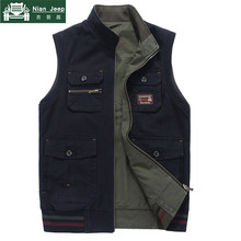 Plus Size 7XL 8XL 9XL Outwear Military Vest Men Cotton Casual Multi Pocket Vest Men Photographer Shooting Waistcoat Coat hombre(China)