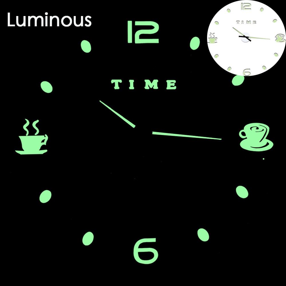27 различных дизайнов светящиеся настенные часы современный дизайн настенные цифровые большие Big3D DIY модные Saat Reloj Horloge klok - Цвет: wall clock 5