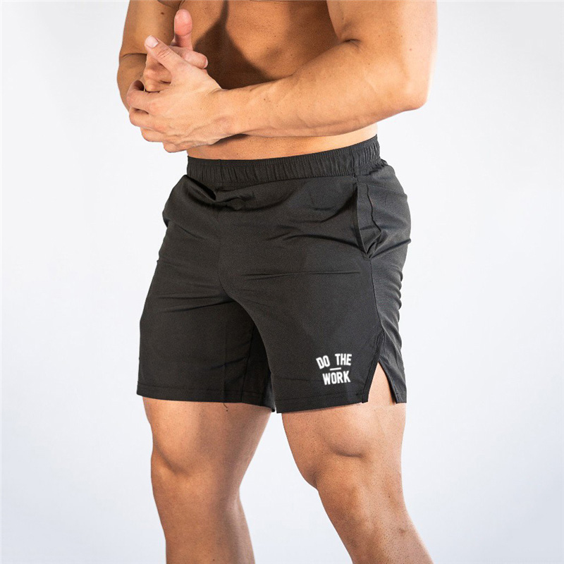 New Fashion Summer Men's Gyms Shorts With Pockets Bodybuilding Clothing Fitness Walking Workout Jogger Shorts Sportswear