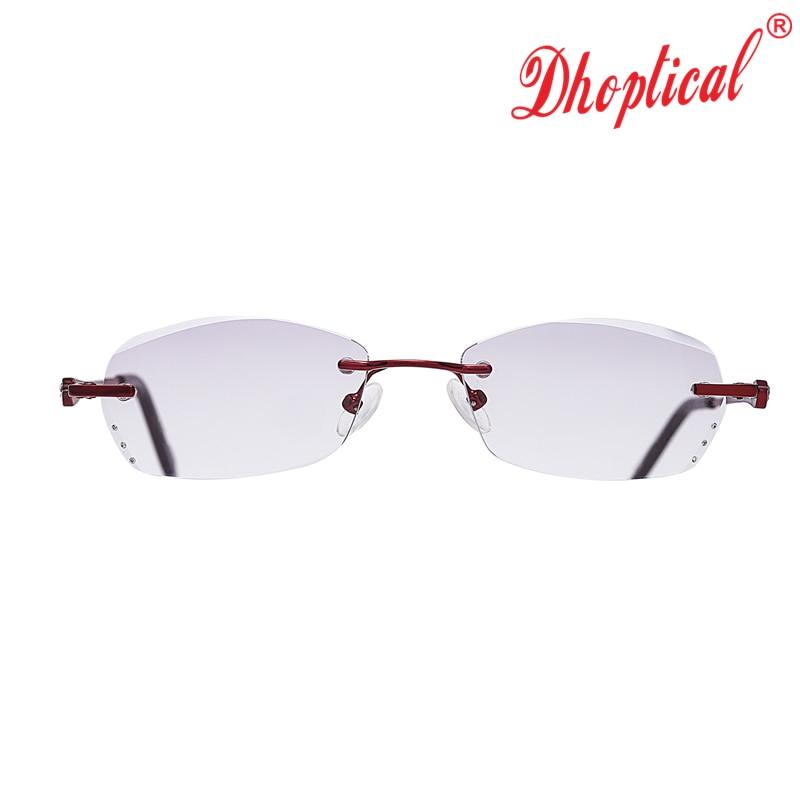 e58333b9b66 Reading Glasses Women Purple Resin Lenses Eyewear Ladies Rimless Eyeglasses  Lightweight Female Reader Glasses.
