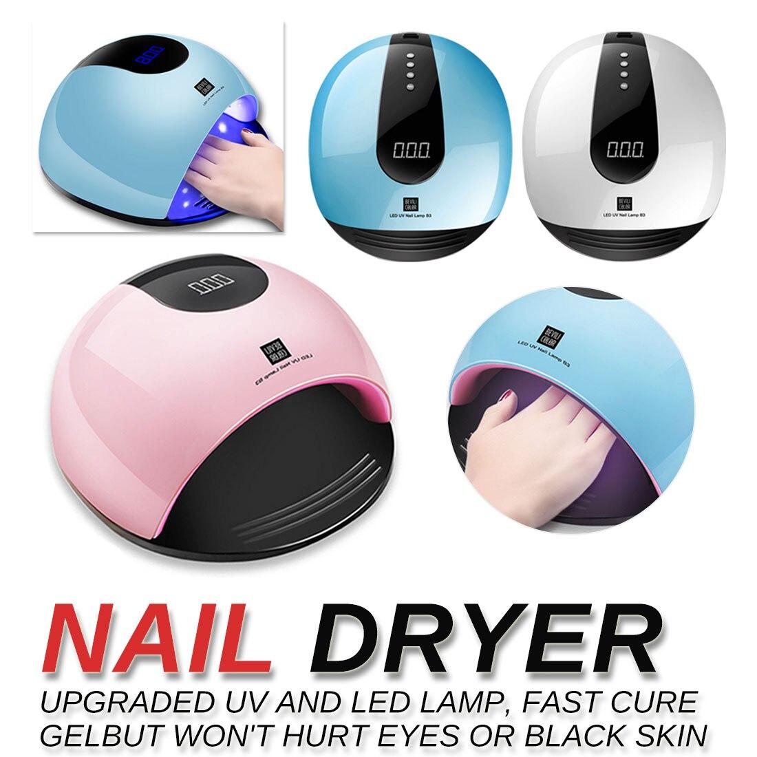 Électrique tous les Gels vernis à ongles ongles USB lampe pour manucure LCD affichage séchage outils d'art sèche-ongles pour ongles LED lampe UV